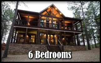 a 6 bedroom Broken Bow Cabins