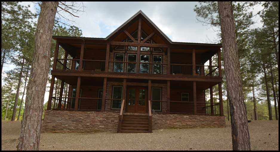 in for photo bow broken cabins oklahoma vacation cabin rental ok
